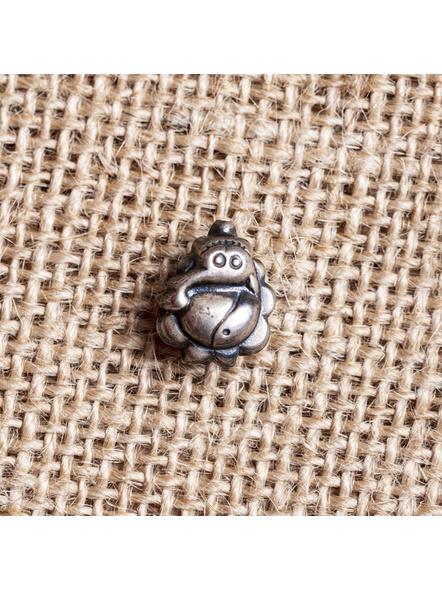 92.5 Pure Silver Designer Ganesh Wire Nosepin-LAA-NP-016