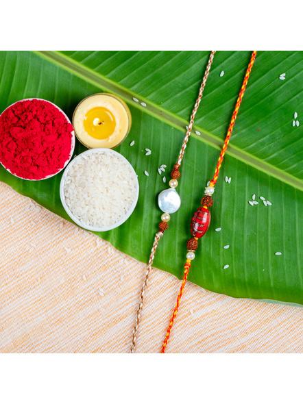 Handmade Designer Rakhi Set of 2-LAA-RKSO2-03