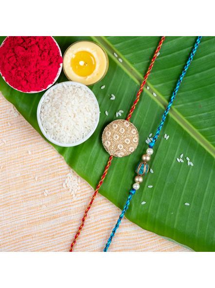 Handmade Designer Rakhi Set of 2-LAA-RKSO2-05