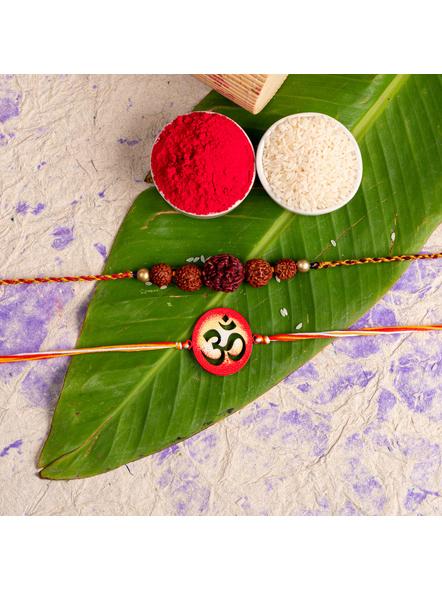 Handmade Designer Rakhi Set of 2-LAA-RKSO2-10