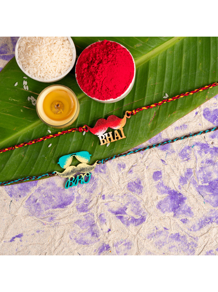 Handmade Designer Rakhi Set of 2-LAA-RKSO2-12