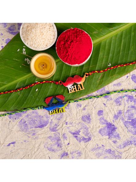 Handmade Designer Rakhi Set of 2-LAA-RKSO2-13