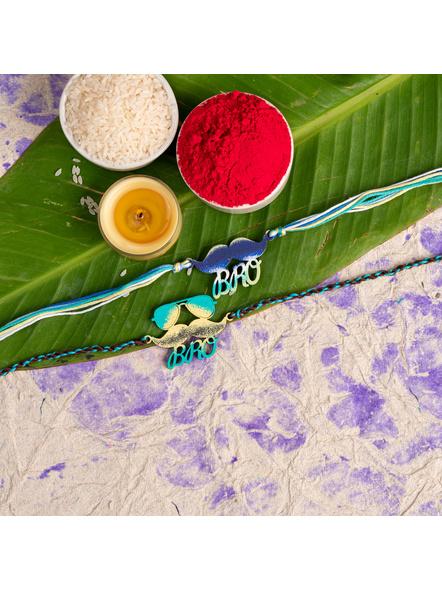 Handmade Designer Rakhi Set of 2-LAA-RKSO2-16