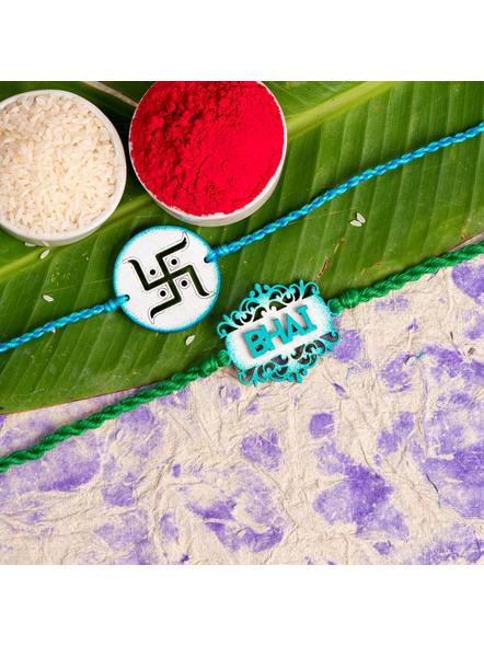 Handmade Designer Rakhi Set of 2-LAA-RKSO2-20