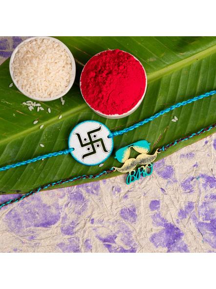 Handmade Designer Rakhi Set of 2-LAA-RKSO2-21