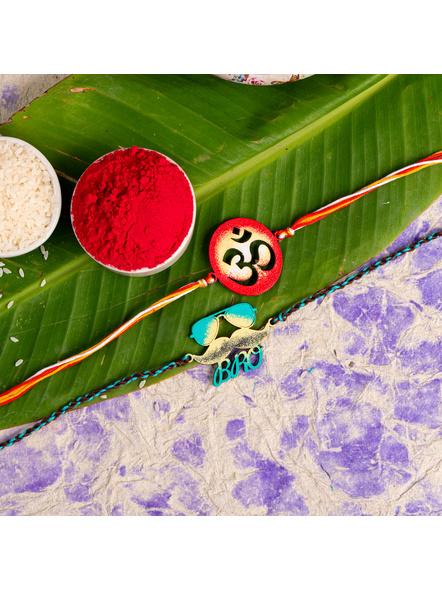 Handmade Designer Rakhi Set of 2-LAA-RKSO2-24
