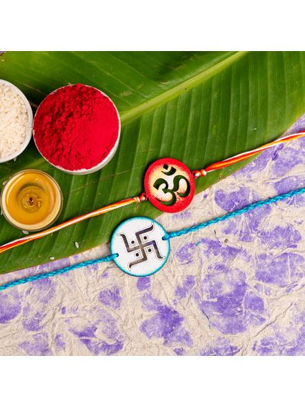 Handmade Designer Rakhi Set of 2-LAA-RKSO2-27