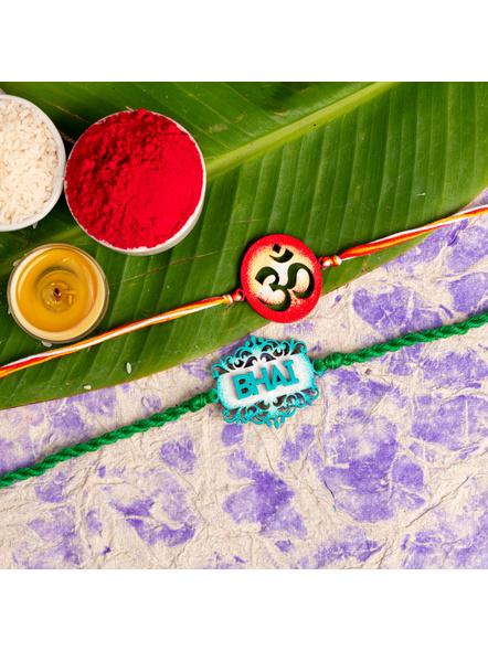 Handmade Designer Rakhi Set of 2-LAA-RKSO2-28