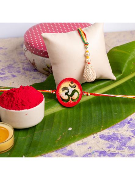 Handmade Designer Bhaiya Bhabhi Lumba Rakhi-LAA-RKBB-01