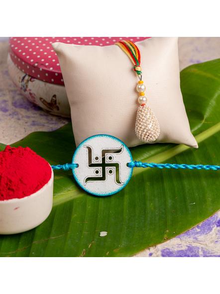 Handmade Designer Bhaiya Bhabhi Lumba Rakhi-LAA-RKBB-02