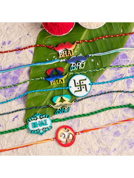 Handmade Designer Rakhi Set of 7-LAA-RKSO7-01