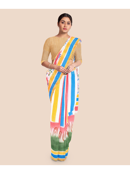 Pure Cotton Hand Painted Kasavu Saree-LAAKPCS004