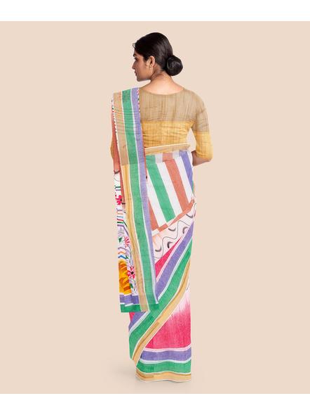 Pure Cotton Hand Painted Kasavu Saree-2