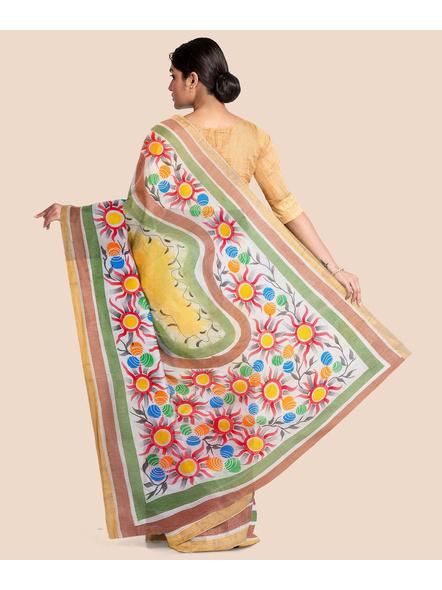 Pure Cotton Hand Painted Kasavu Saree-5