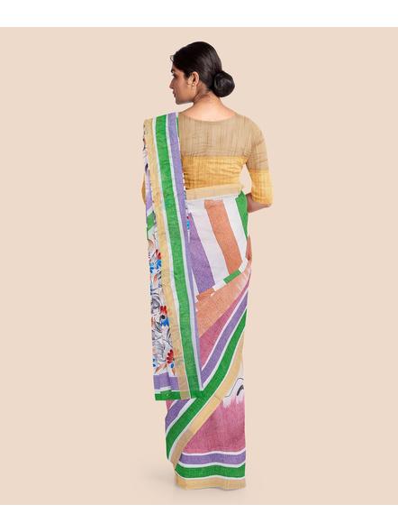 Pure Cotton Hand Painted Kasavu Saree-LAAKPCS013