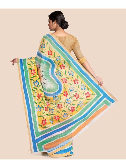 Pure Cotton Hand Painted Kasavu Saree-LAAKPCS014
