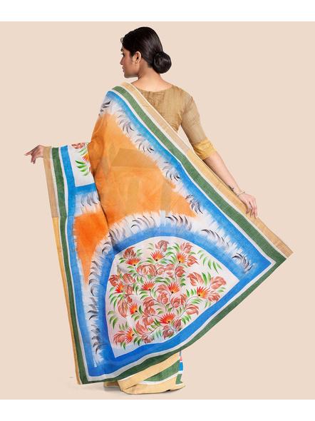 Pure Cotton Hand Painted Kasavu Saree-1