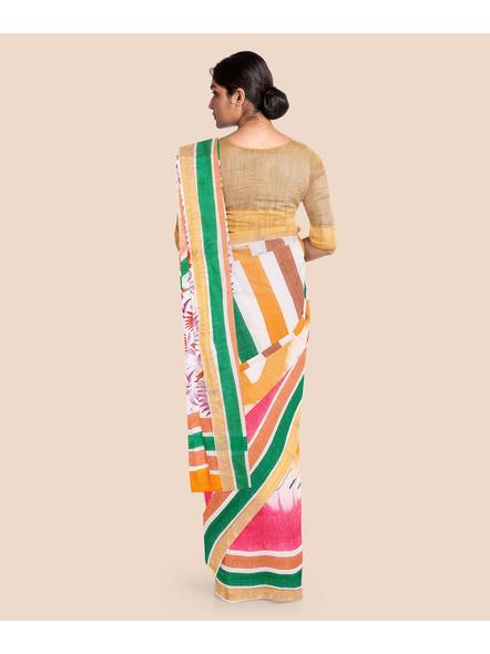 Pure Cotton Hand Painted Kasavu Saree-3