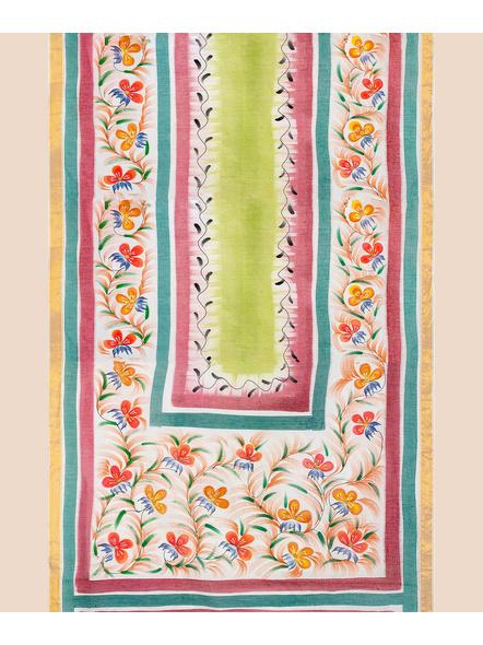 Pure Cotton Hand Painted Kasavu Saree-LAAKPCS020