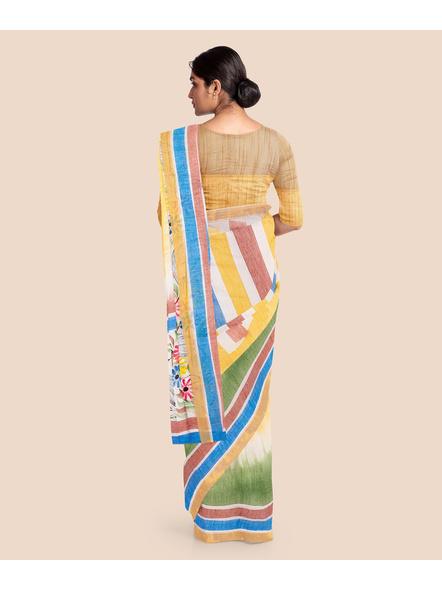 Pure Cotton Hand Painted Kasavu Saree-LAAKPCS024