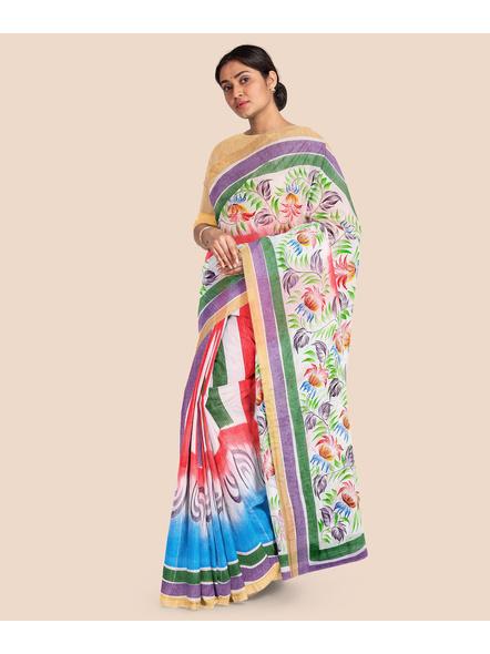 Pure Cotton Hand Painted Kasavu Saree-LAAKPCS025