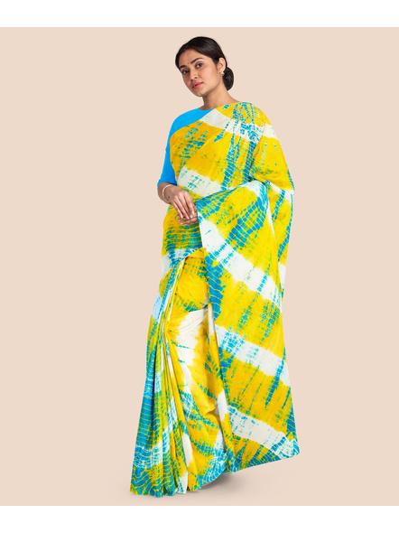 Mulmul Shibori Pure Cotton Saree-2