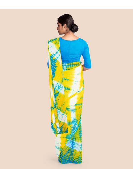 Mulmul Shibori Pure Cotton Saree-4