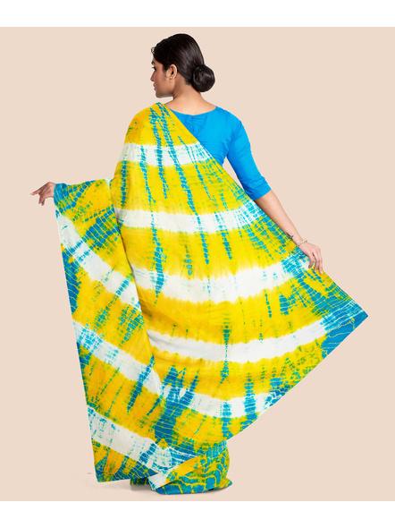 Mulmul Shibori Pure Cotton Saree-5