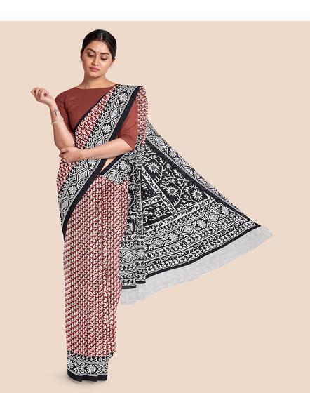 Printed Pure Cotton Saree-LAAPCS011