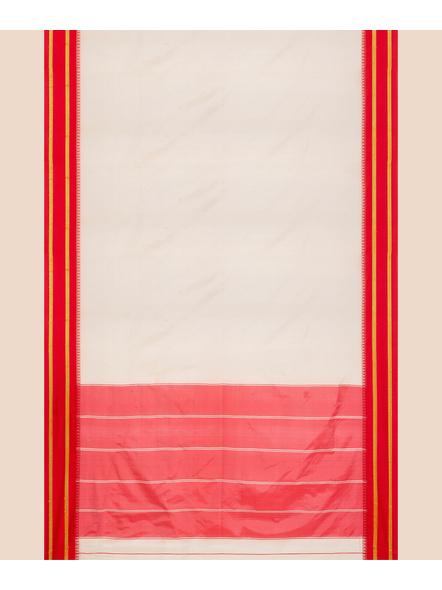 Garad Silk Blend Saree (Red White)-3