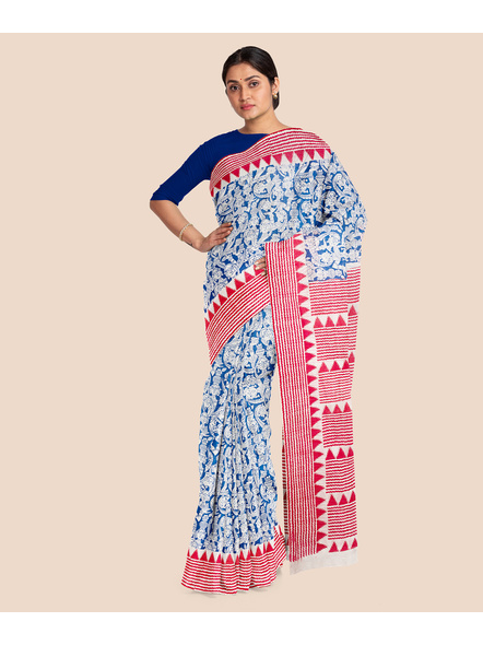 Printed Cotton Saree without Blouse Piece-3