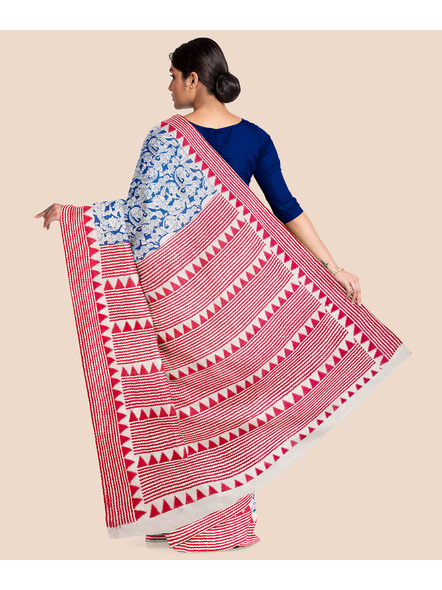 Printed Cotton Saree without Blouse Piece-4