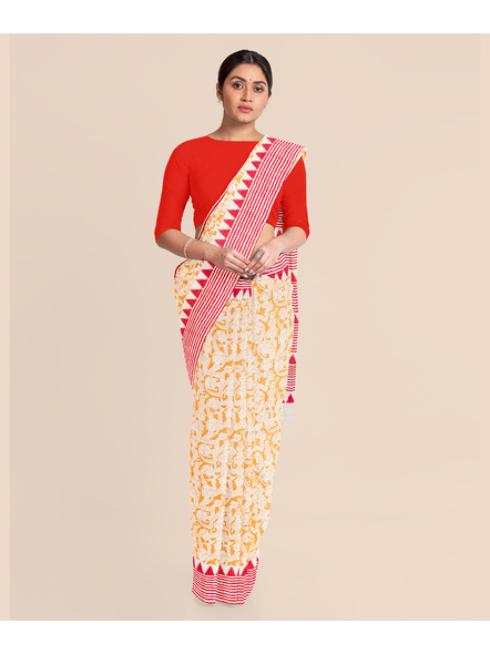 Printed Cotton Saree without Blouse Piece-LAAPCS016