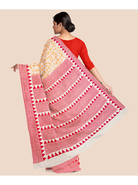 Printed Cotton Saree without Blouse Piece-2