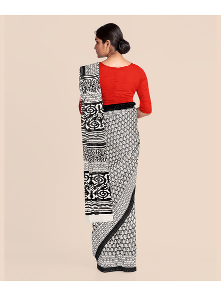 Printed Cotton Saree without Blouse Piece-5