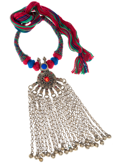 Handmade Afghani Necklace with Multi Color Thread-LAANSNL001