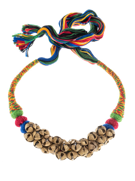 Handmade Ghungroo Necklace with Multi Color Thread-LAANSNL003