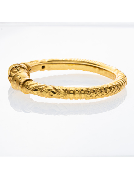 """Traditional Ethnic Jewellery 1.5 Gram Gold Polished Bangle Set of 1 for Women (1 Piece)-Gold-Copper-Adult-Female-2.3""""-2"""