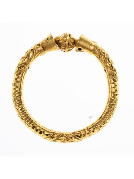 Traditional Ethnic Jewellery 1.5 Gram Gold Polished Bangle Set of 1 for Women (1 Piece)-LAAGP15BG002