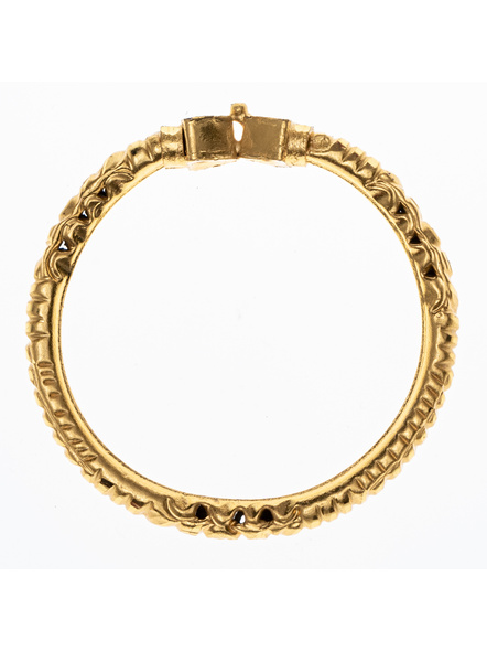 Traditional Ethnic Jewellery 1.5g Gold Polished Triagle Shaped Designer Bangle for Women (1 Piece)-LAAGP15BG010