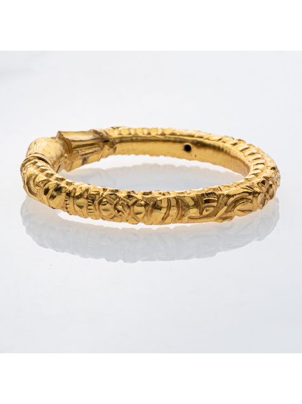"""Traditional Ethnic Jewellery Designer 1.5g gold polished Thick Bangle - Set of 1 for Women(1 Piece)-Gold-Copper-Adult-Female-2.4""""-2"""