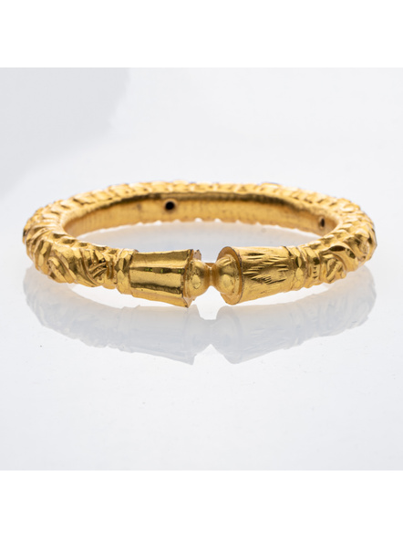 """Traditional Ethnic Jewellery Designer 1.5g gold polished Thick Bangle - Set of 1 for Women(1 Piece)-Gold-Copper-Adult-Female-2.4""""-1"""