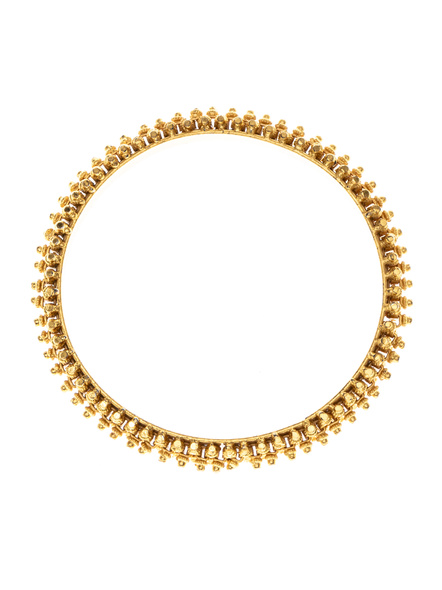 """Traditional Ethnic Jewellery 1.5g Gold Polished Designer Bangle - Set of 2 for Women (2 Pieces)-Gold-Copper-Adult-Female-2.6""""-1"""