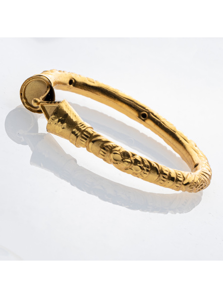 """Traditional Ethnic Jewellery 1.5g Designer Drop Shaped Bangle for Women (1 Piece)-Gold-Copper-Adult-Female-2.6""""-2"""