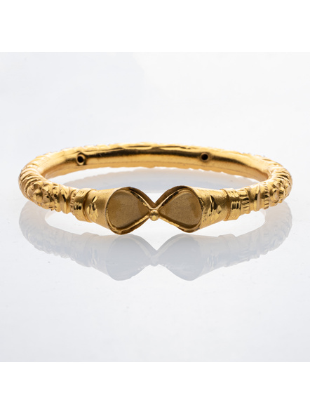 """Traditional Ethnic Jewellery 1.5g Designer Drop Shaped Bangle for Women (1 Piece)-Gold-Copper-Adult-Female-2.6""""-1"""