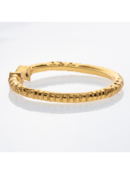 """Traditional Ethnic Jewellery 1.5g Gold Polished Triagle Shaped Designer Bangle for Women (1 Piece)-Gold-Copper-Adult-Female-2.3""""-2"""