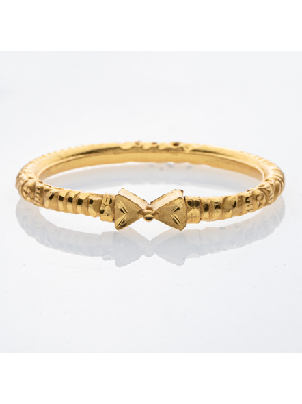 """Traditional Ethnic Jewellery 1.5g Gold Polished Triagle Shaped Designer Bangle for Women (1 Piece)-Gold-Copper-Adult-Female-2.3""""-1"""