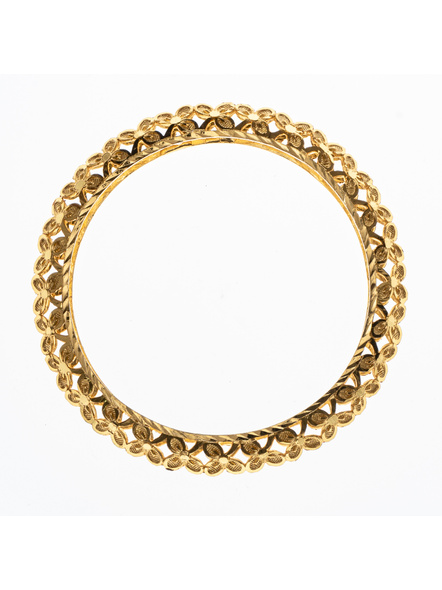 Traditional Ethnic Jewellery Designer 1.5g Floral Bangle for Women (1 Piece)-LAAGP15BG012
