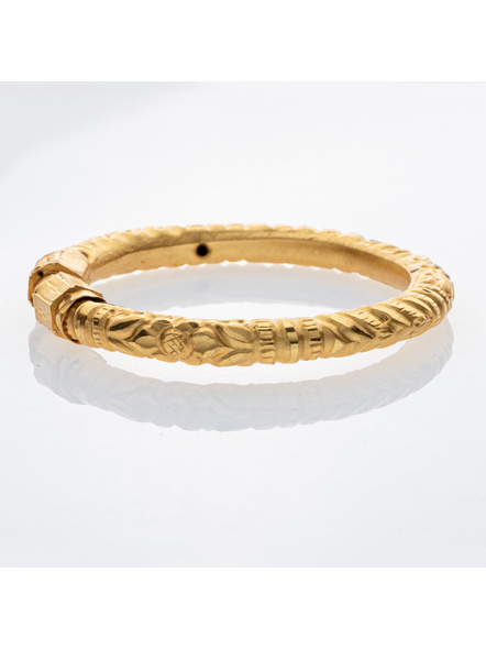 """Traditional Ethnic Jewellery Designer 1.5g Gold Polished Thikck Bangle for Women (1 Piece)-Gold-Copper-Adult-Female-2.5""""-2"""