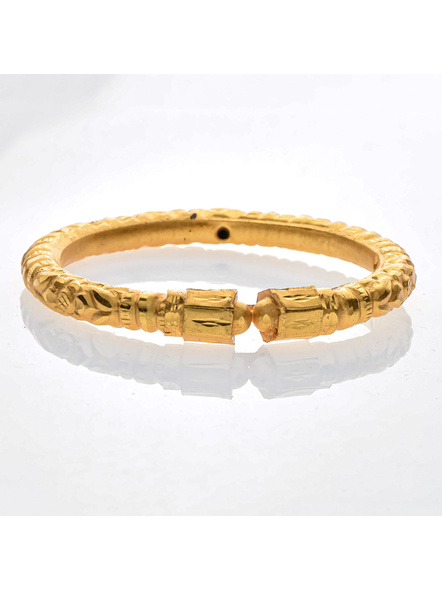 """Traditional Ethnic Jewellery Designer 1.5g Gold Polished Thikck Bangle for Women (1 Piece)-Gold-Copper-Adult-Female-2.5""""-1"""